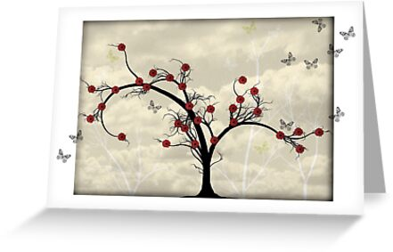 * butterfly tree card * by franzi