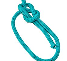 Bowline Knot on white background by PhotoStock-Isra