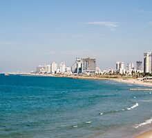 Israel, Tel Aviv coastline as seen from south from Old Jaffa by PhotoStock-Isra