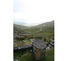 Snow Marker at Healy Pass Photographic Print