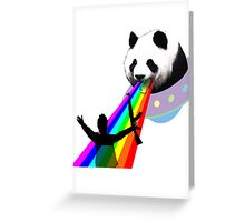Panda stop gunner Greeting Card