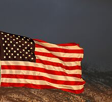 American Flag - Sunset by Ryan Houston