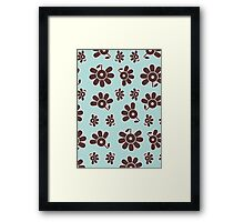 Bloomin - Aqua & Chocolate Framed Print