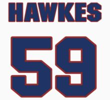 National football player Michael Hawkes jersey 59 by imsport