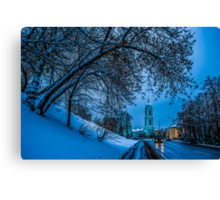 During The Twilight Hour Canvas Print