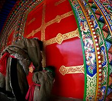 a door of Tibetan temple by jiashu xu