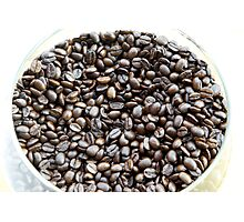 Brazil. A bowl of fresh coffee beans Photographic Print