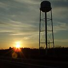 Sunset and Water Tower by Ray1945
