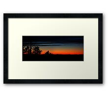 0102 - HDR Panorama - Sunset 2 Framed Print