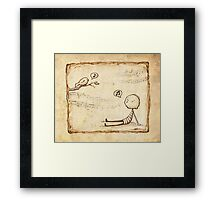 Whistle Framed Print
