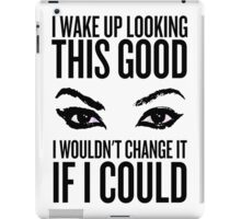 Wake Up, Flawless (White) iPad Case/Skin