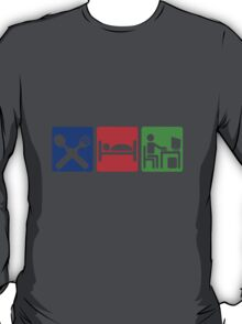 EAT SLEEP COMPUTER HACK T-Shirt