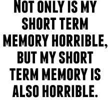 Short Term Memory by kwg2200