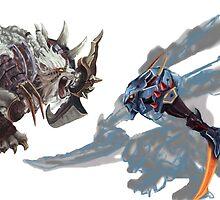 Kha'Zix vs Rengar by JohannPC