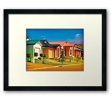 Casas Graficas Framed Print