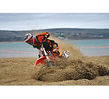 Weymouth Beach Race MotoX 1 Photographic Print