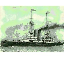HMS Vengeance a British Battleship, 1902 - all products bar duvet Photographic Print