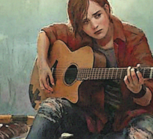 Ellie Playing the Guitar - TLOU Sticker