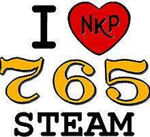 I LUV NKP 765 STEAM by TrainmasterBob