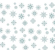 Pixel Snowflakes by Robinhatesyou