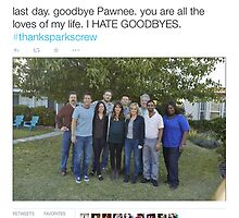 Aubrey Plaza's Parks and Rec Tweet by Dominique Demetz