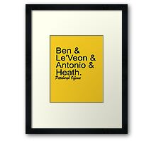 Pittsburgh Offense Framed Print