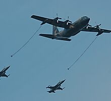 Hercules with two F-5s by PDP1