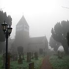 Early morning mist in the Churchyard by wesleyj1954
