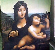 Copywork, Madonna with the Yarnwinder (Leonardo DaVinci) Oil On Canvas Board by life4paint