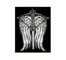 Angel Wings and Crossbow (Dirty) Art Print