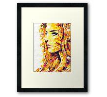 SIDEWAYS / Lana Del Rey Framed Print
