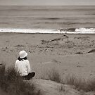 Watching The Ocean (bw) by Henrik Lehnerer