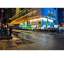 Mong Kok Bus Rush Photographic Print