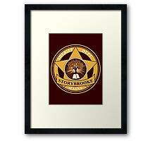Storybrooke Sheriff Department Framed Print