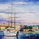 White Boat — Buy Now Link - www.etsy.com/listing/215143578 by Leonid  Afremov