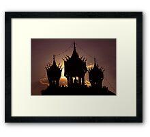 buddha sunset Framed Print