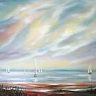 Afternoon Sail on Mobile Bay by Lolita Dickinson