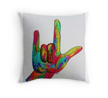 I LOVE YOU - American Sign Language Throw Pillow