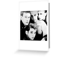 Depeche Mode : Single 81-85 - Paint B&W Greeting Card