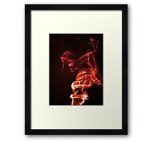 Red Smoke Framed Print