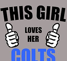 THIS GIRL LOVES HER COLTS by Divertions