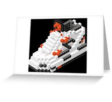 The Pump Pixel 3D Sneaker Greeting Card