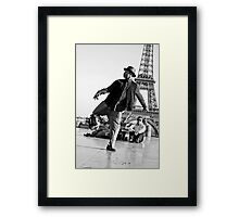 Slyde the Artist 01 (in Paris) Framed Print