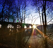 Chirk Aqueduct Over Sunrise by Rob Smith