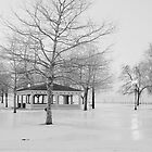 Ontario Beach Park in Black and White by Kristi Lockwood