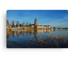 Seen from the riverside Canvas Print