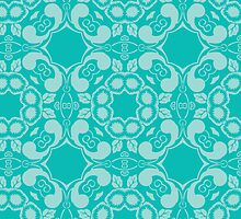 Blue Floral Design by canossagraphics