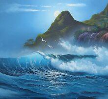 moonlight surf - www.lirettestudio.com by lirettestudio