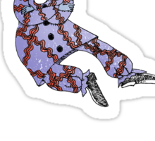 Levitating Clown Sticker