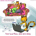 Feline Social Media by Rick  London